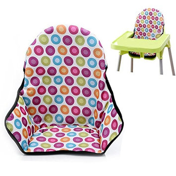 Baby Highchair Dining Chair Seat Covers & Cushion Protective Film Breathable Waterproof High Chair Pad (Colorful Dot)