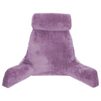 Hitnotion Husband Pillow Bedrest Reading & Support Bed Backrest with Arms Light Purple - Shredded Foam Reading Pillow - Bed Rest Pillow Makes a Comfy and Therapeutic Cuddle Buddy Any Time You Need One