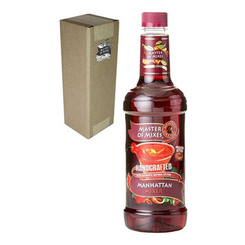 Master of Mixes Manhattan Drink Mix, Ready To Use, 1 Liter Bottle (33.8 Fl Oz), Individually Boxed