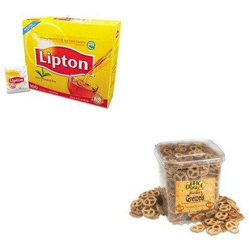 KITLIP291OFX00073 - Value Kit - Office Snax Gretzels (OFX00073) and Lipton Tea Bags (LIP291)
