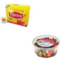 KITLIP291OFX70013 - Value Kit - Office Snax Jelly Beans (OFX70013) and Lipton Tea Bags (LIP291)