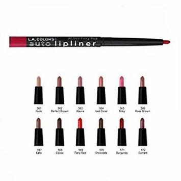 L.A. Colors Auto Lip Liner Pencil Set of 12 (561-572)