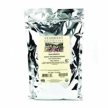 Starwest Botanicals Organic Chaste Tree Berries Whole, 1 Pound