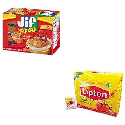 KITLIP291SMU24136 - Value Kit - Smucker's Jif To Go (SMU24136) and Lipton Tea Bags (LIP291)