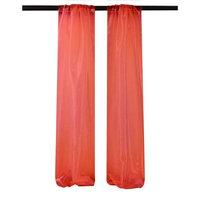 LA Linen DBOrganza58x96-Pk2-RedO98 Mirror Organza Backdrop Red - 58 x 96 in. - Pack of 2