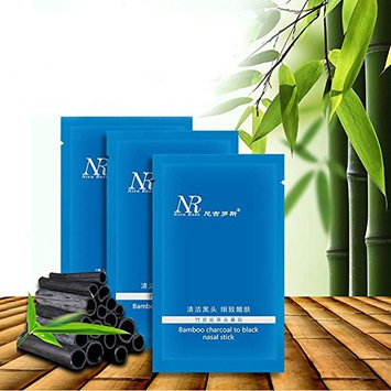 ZHUOTOP 5 pcs Blackhead Deep Cleaning Bamboo Charcoal Shrink Pore Peel Off Nose Mask Skin Care