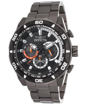 Invicta 23516 Men's TI-22 Chronograph Titanium Black Dial Orange Accent
