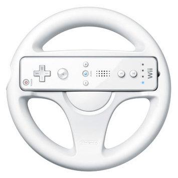 Nintendo Wii Game Controller Steering Wheel (White)