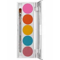 Kryolan 9335 SHADES 5 Color Eye Shadow Makeup Palette, 19 color options available (Dubai)