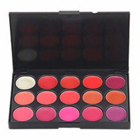 Generic 15 Color Lip Gloss Lipstick Palette Set Cosmetic Makeup (Style 1)