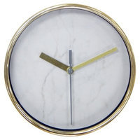 Threshold Wall Clock Marble with Brass 6\