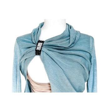 NursElet ® Nursing Bracelet - Multifunctional Hands-Free Shirt Holder, Breastfeeding Reminder Bracelet - Signature Monochrome Dots