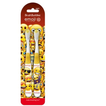 Ashtel Studios 00695-24 Brush Buddies Emoji 2 Pack Toothbrush - Pack of 10
