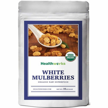 Healthworks White Mulberries (16 Oz / 1lb) | Certified Organic, All-Natural & Sun-Dried | Paleo, Vegan & Non-GMO | Baking & Smoothies | Antioxidant Superfood