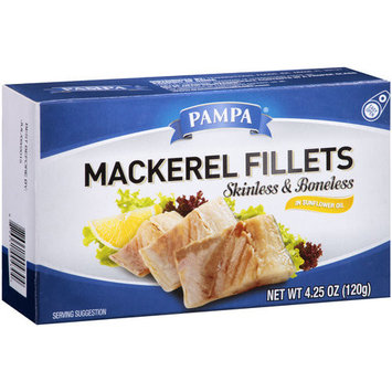 Pampa Skinless Boneless Mackerel Fillets, 4.25 oz