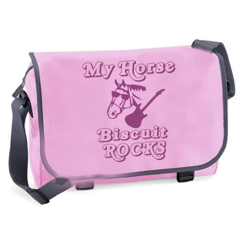 'MY HORSE ROCKS' Personalised A4 School/College messenger bag with name of horse.