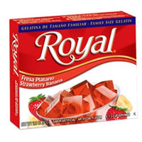 Royal Bilingual Gelatin, Fat Free Dessert Mix, Strawberry Banana (12 - 2.8 oz Boxes)