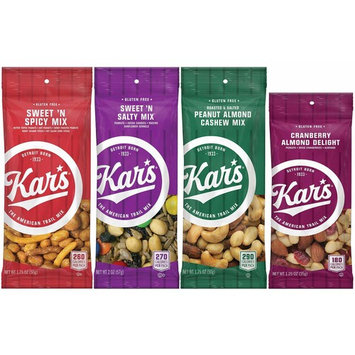 Kar's Nuts Variety Mix - Sweet 'n Spicy, Sweet 'n Salty, Peanut Almond Cashew, Cranberry Almond Delight (48 bags)