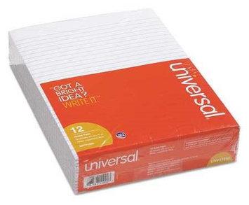 UNIVERSAL UNV11000 Writing Pad,8-1/2 x 11 In, PK12
