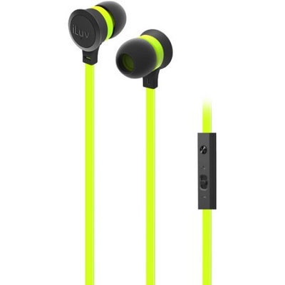 iLuv IEP336GRNN Neon Sound Highperform Earphoneaccs Green