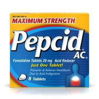Pepcid Ac Maximum Strength Acid Reducer, 8 tabs by Johnson & Johnson