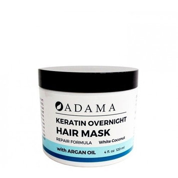 Adama Minerals Keratin Hair Mask - White Coconut Zion Health 4 oz Cream
