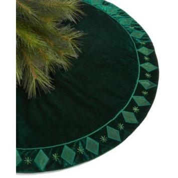 Green Velvet Tree Skirt, Created for Macy's