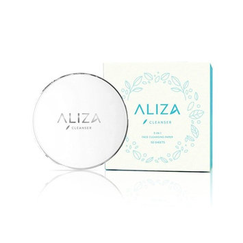 Aliza Naturals 3-in-1 Face Paper Cleanser, For Makeup Removal, Facial Cleansing, AND Lightly Hydrating Skin (50 Sheets)