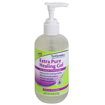 TriDerma�� Extra Pure Healing Gel��� Helps Relieve Sunburns, Prevent Razor Burn & Can Be Used As Make-up Remover (8 oz)