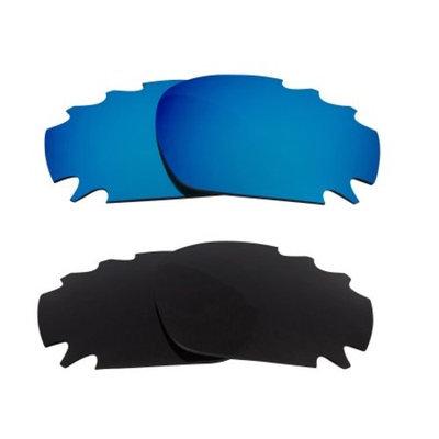 Best SEEK Replacement Lenses - Oakley VENTED RACING JACKET Grey Blue Mirror