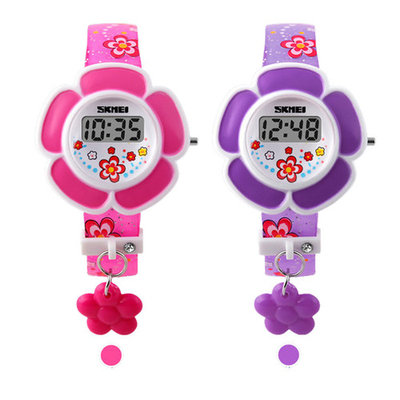 Children Student Watch Flower Pattern Wristwatch Casual Lovely Colorful Kids Boys Girls Electronic Quartz Watch