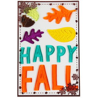 Xianju Chengfeng Craft Gifts Factory HARVEST HAPPY FALL GEL CLING, 5.5 X 10 INCH