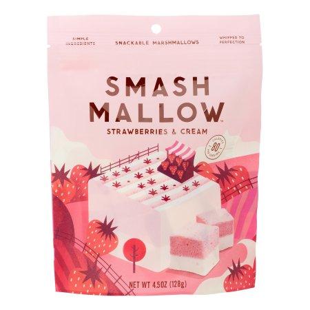 Smashmallow Snackable Marshmallows, Strawberry Cream, 4.5 Oz