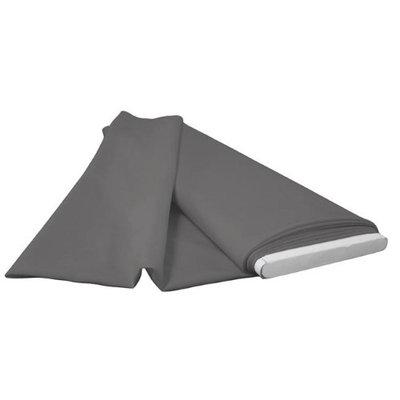 LA Linen PopBolt-5Yrd-CharcoalP34 5 Yards Polyester Poplin Flat Fold Charcoal