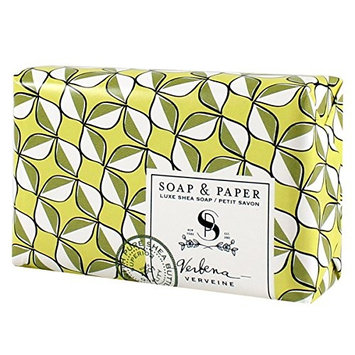 Soap & Paper Factory Classic Shea Butter Soap, Verbena, 3 Ounce