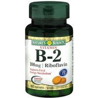 Nature's Bounty Vitamin B-2 100 mg, 100 Coated Tablets