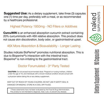 Best Turmeric Curcumin w/Bioperine. Award Winning_Professional Strength -95% Curcuminoids. Doctor Formulated. Non-GMO, Vegan, GF, NO Fillers or Binders. Backed by Research. 3rd Party Tested. [1]