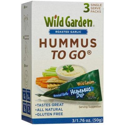 Wild Garden Hummus to Go Roasted Garlic, 3 CT (Pack of 2)
