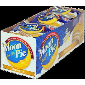 Chattanooga Bakery, Inc Banana Double Decker MoonPie Marshmallow Sandwich Case 9/9 ct./2.75 oz.
