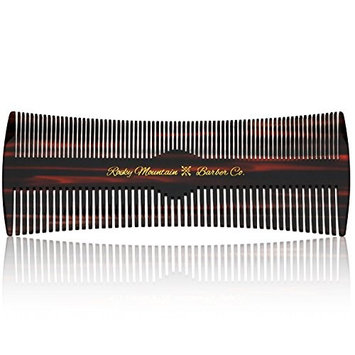 Hair Comb - Fine and Medium Tooth Comb for Head Hair, Beard, Mustache - Warp Resistant, No Snag Design with Contour Sides Crafted from Cellulose Acetate