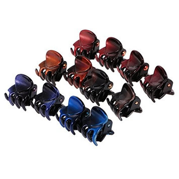 Dovewill 12 Pieces Wholesale Mini Claws Jaw Riser Claw Hair Clip Clutcher Lady Girl Hair Jewelry DIY Hair Clips - 1