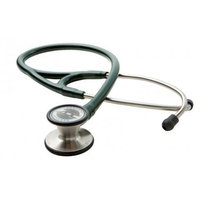 ADC Adscope 601 Convertible Cardiology Stethoscope with Tunable AFD Technology, Adult Diaphragm and Adult Bell or Pediatric Diaphragm, 28 inch Length, Dark Green