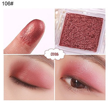 Braceus Single Color Shimmer Pearly-lustre Eyeshadow Powder Women Beauty Cosmetic Tool - 106#
