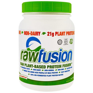 Raw Fusion, Raw Plant-Based Protein Fusion, Natural & Unflavored, 32.5 oz (921.9 g)