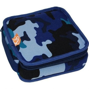 Ecocozie E1S02B01 Reusable Square Food Container - Blue Camo