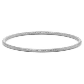 Tiara Sterling Silver Textured Twist Bangle
