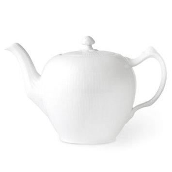 Royal Copenhagen - White Fluted Plain - Tea Pot