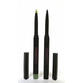 Kleancolor Retractable Waterproof Lip/Eyeliner Lime Green+Black #AP7