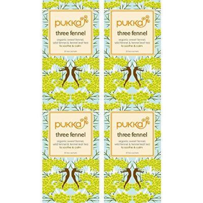 (4 PACK) - Pukka Herbs - Three Fennel Tea   20 sachet   4 PACK BUNDLE