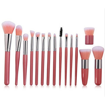 15PCS Different Professnial Make up brushes with a makeup bag, 3 color selectable